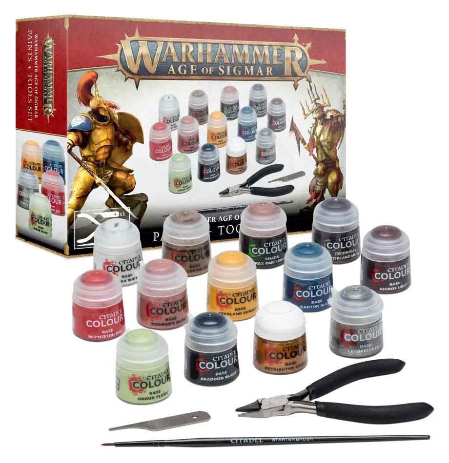 Warhammer Age of Sigmar: Farben + Werkzeug