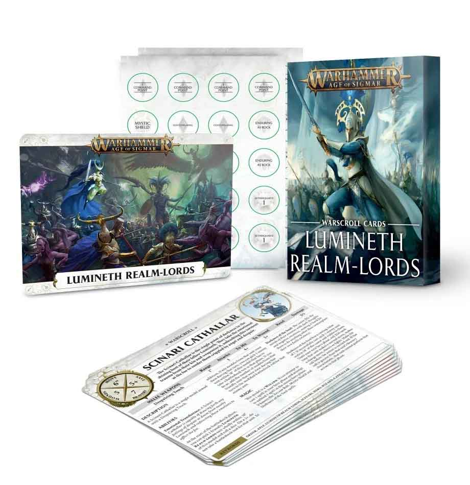 Warscroll Cards: Lumineth Realm-lords (Englisch)