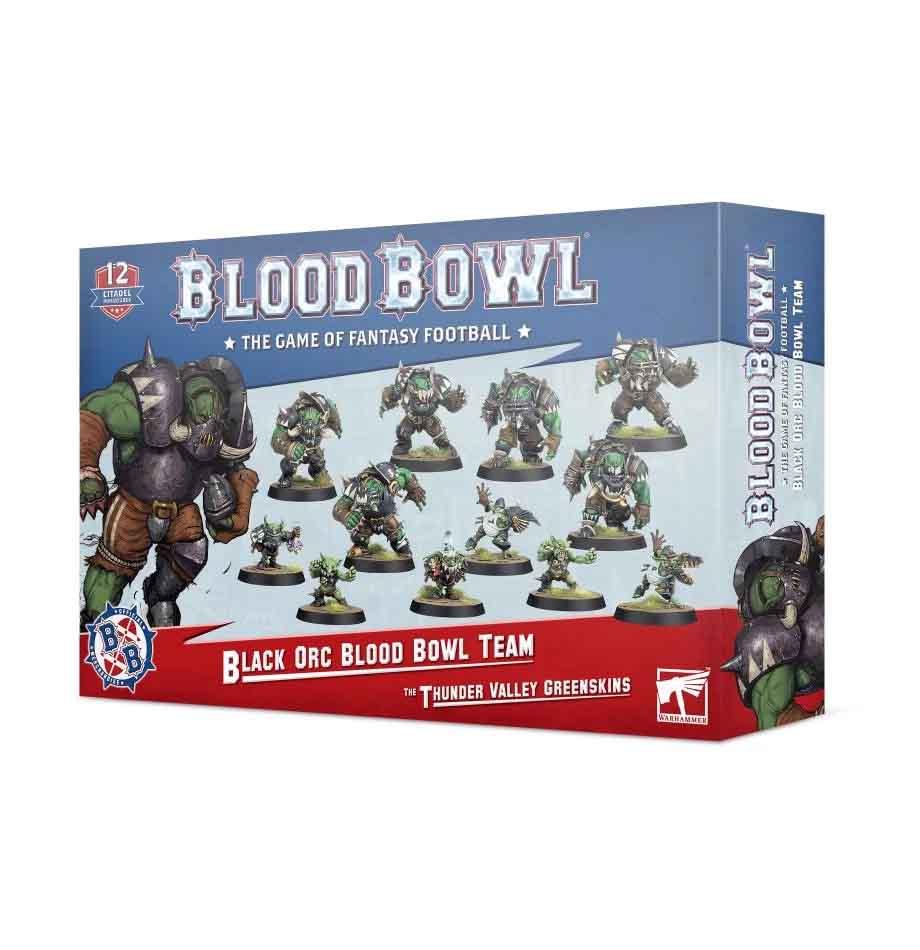 Black-Orc-Team für Blood Bowl: Die Thunder Valley Greenskins