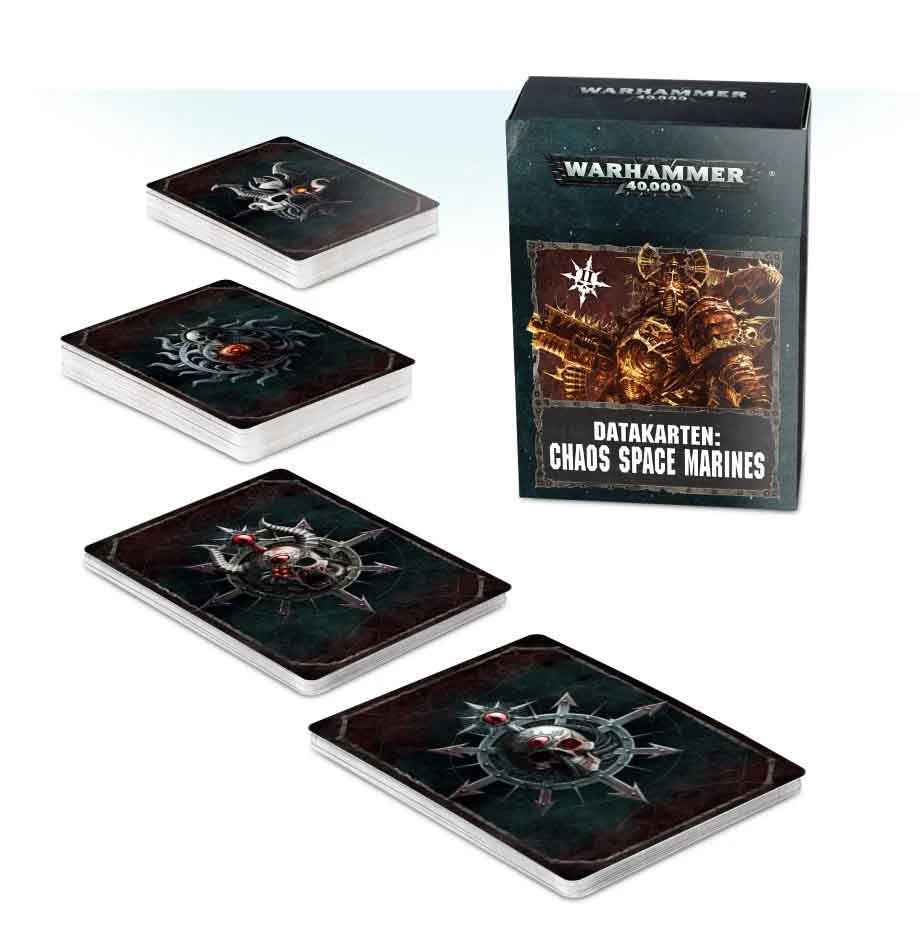 Datacards: Chaos Space Marines (Englisch)